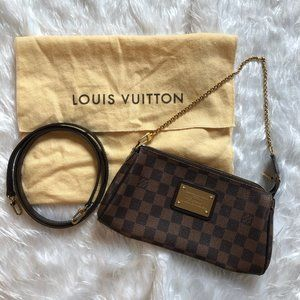 Louis Vuitton Damier Ebene Eva Clutch Excellent!